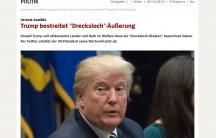 A screenshot of the headline from Germany's Speigel.