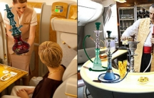 Images from The Pan-Arabia Enquirer's fake news story about how Emirates Airline was now offering shisha or hookah lounges on its luxury A380 fleet.  Many readers believed the story which eventually forced the airline to make clear that the story was from
