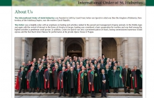 A screenshot from the website of the International Order of St.Hubertus