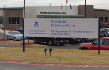 Front of building with sign for Prairieland Detention Center