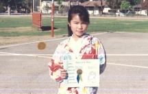Angel Ryono in elementary school