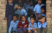 Children at school in India.