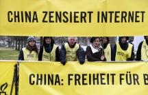 Amnesty protest