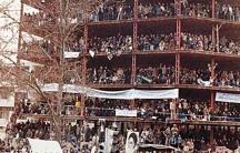 Protestors during Iran's 1979 revolution.