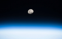 Moonrise from aboard the International Space Station, August 3, 2017.