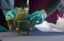 The 18th century Chinese jade censer that was stolen from the Fogg Museum in 1979 has been returned to the Harvard Art Museums.