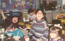 Jalal Baig hamming it up in grade school