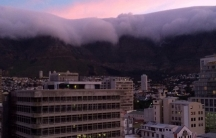 Cape Town, South Africa at dusk.