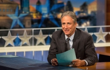 "Jon Stewart hosting ""The Daily Show"""