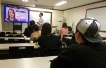 An English-language class in South Korea.