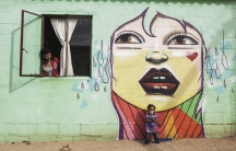 """""""Out the Box,"""" done for Red Bull's One Upon A Town project, Kachelhoffer, Western Cape, South Africa 2015."""