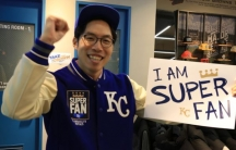 South Korean super fan gets ready for the World Series