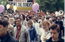 Members of LGSM take part in the Pride '85 march.
