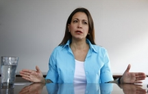 Venezuelan opposition leader Maria Corina Machado speaks during an interview in Caracas May 23, 2014.