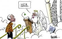 Nelson Mandela at Heaven's gates