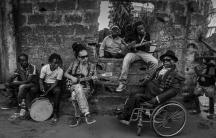 Members of the band Mbongwana Star