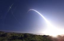 An unarmed Minuteman III intercontinental ballistic missile