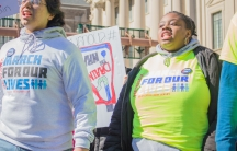 Jahne Benthall organized a March For Our Lives in Newark, New Jersey.