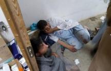 Workers react in hospital strike by airstrike in Afghanistan