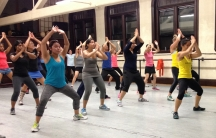 BollyX Fitness class in Cambridge, MA.