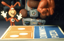 A Domino's commercial featuring The Noid.