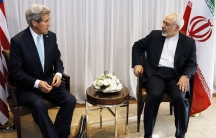 US Secretary of State John Kerry sits with Iranian Foreign Minister Mohammad Javad Zarif before a meeting in Geneva in January 2015. Zarif said that his meeting with Kerry was important to see if progress could be made in narrowing differences on his coun