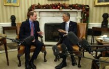 US President Barack Obama meets Britain's Prince William