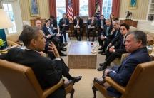 President Obama meets with King Abdullah of Jordan