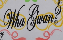 The phrase 'Wha gwan' (whaa gwaan) means 'what's going on' in Jamaican Patois. The spelling varies but the meaning does not change.