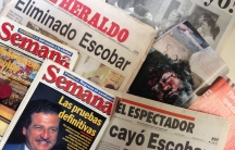 Colombian newspapers and magazines from December 1993 on the death of druglord Pablo Escobar. Yolanda Perdomo saved them from that time.