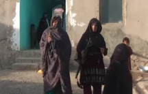 Afghan mother, Rezagul, and daughter who attacked Taliban
