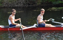Paralympic rowers train on the Charles River.