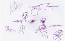 Syrian child's drawing