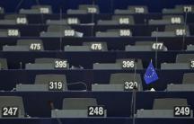 Empty desks in European Parliament on Jan. 20, 2016.
