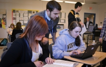 Students in Brian Gray and Mark Giuliucii's class don't get letter grades or take multiple choice tests.