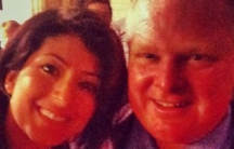 "Sonia Yarkhani's ""selfie"" with Toronto Mayor Rob Ford"