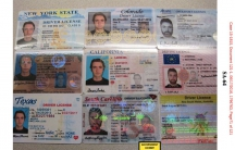 Evidence entered into the record of Ross Ulbricht's Federal trial in the U.S. Southern District Court of New York, depicting 9 fake IDs Ulbricht purchased for himself from the Silk Road marketplace.