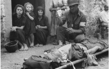 Sicily, 1943: Whose blood was this U.S. soldier getting?