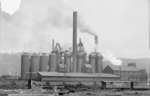 A Pittsburgh steel plant