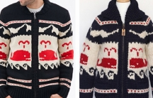 Forever 21 sweater (L) Granted Clothing sweater (R)