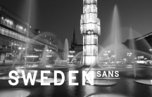 The font, Sweden Sans, was designed by Swedish agency Soderhavet in collaboration with Swedish font artist Stefan Hattenbach as part of a new national branding effort.