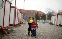 Syrian refugees children