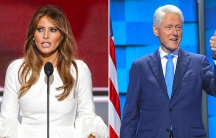 Melania Trump and Bill Clinton