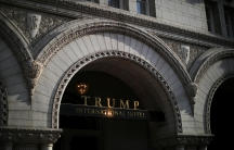 The entrance of Trump International Hotel