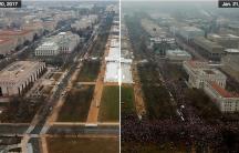 Lead image Trump inauguration crowd comparison with Women's March