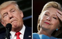 US presidential candidates Donald Trump and Hillary Clinton attend campaign rallies in Ambridge, Pennsylvania, October 10, 2016 and Manchester, New Hampshire, October 24, 2016.