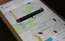 The Uber app displays cars available to make a pickup around Capitol Hill in May 2015
