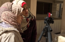 """""""I want every girl who went through something as I have ... just not to be quiet about it and not to keep things inside of her,"""" says a 16 year old Syrian filmmaker who uses the name Walaa al Alawi."""
