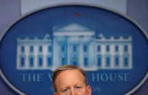 White House spokesman Sean Spicer holds a press briefing at the White House