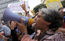 Women protest during the Arab Spring